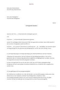 Abmahnung 2019 Vertragsstrafe Inkl Muster