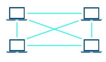 Bei einem KaZaA-Download werden die Inhalte zwischen den Rechnern im Peer-to-Peer-Netzwerk getauscht.